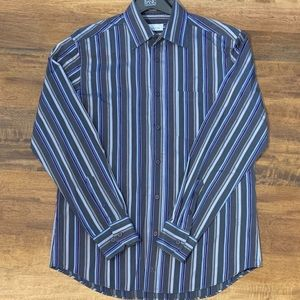 Bugatchi Uomo Designer Dress Shirt Shaped Fit